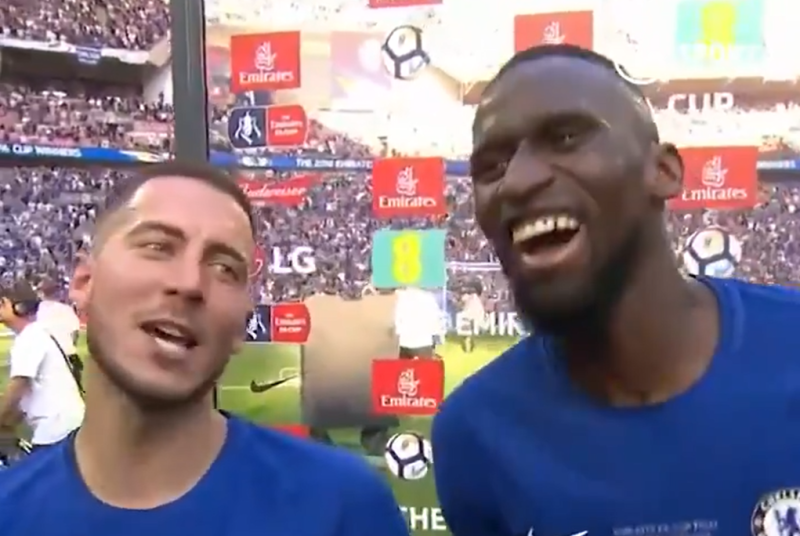 Rudiger is constantly joking around with his teammates