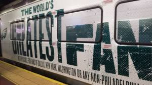 Eagles fans are the greatest fans in the world. :) SEPTA regional knows how dedicated Eagles fans are!