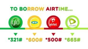 Borrow Airtime from MTN, Glo, Etisalat and Airtel