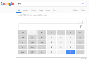 use Google Calculator or Calculate with Google