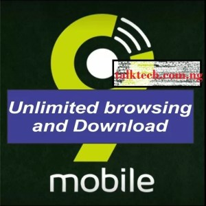 9Mobile Unlimited Free Browsing Cheat for September 2018