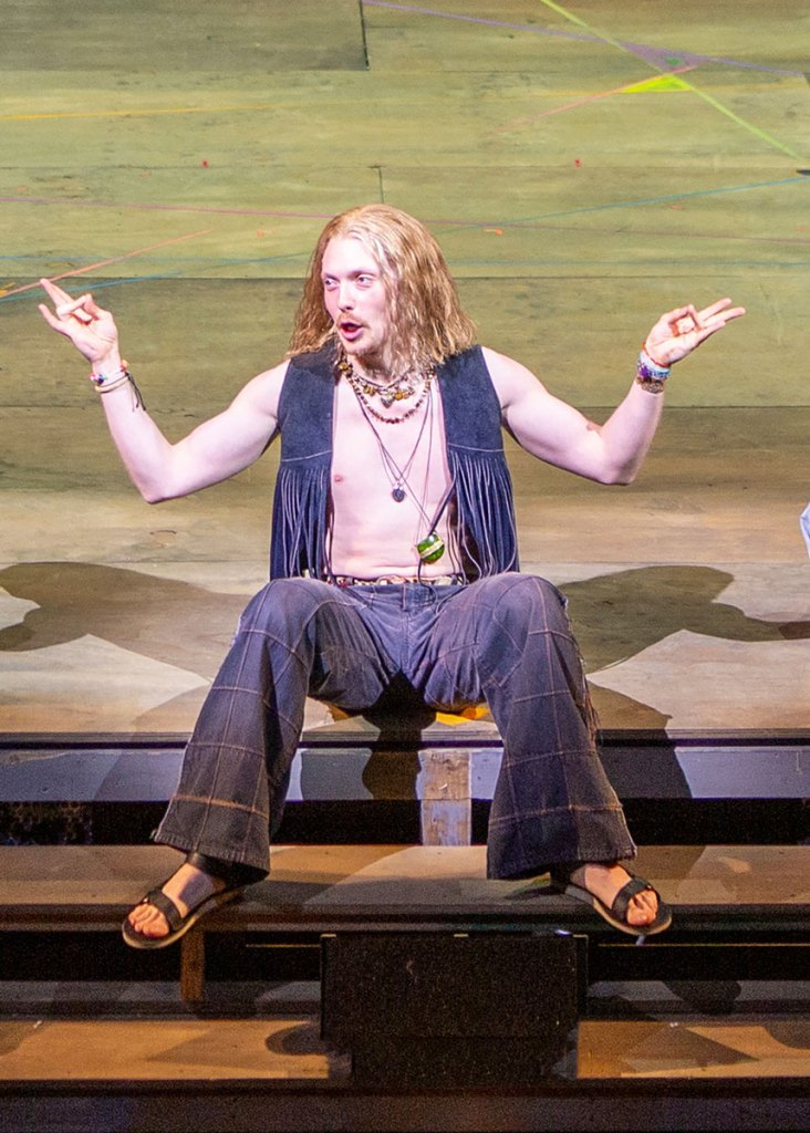 Andrew Polec as Berger in HAIR Photo by Jim Cox.