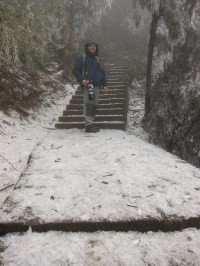 Me on the icy path!