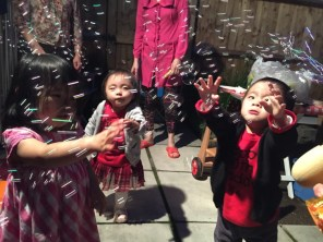 Don't kids just love bubbles!!! Ashton was very excited!