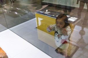 Annabelle was attracted to some of the little exhibits