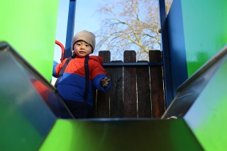 Ashton loves his time at our local park. But he's not too sure about slides.
