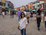 Then we arrived at the colorful Burano!
