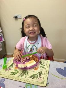 Annabelle loves her food!