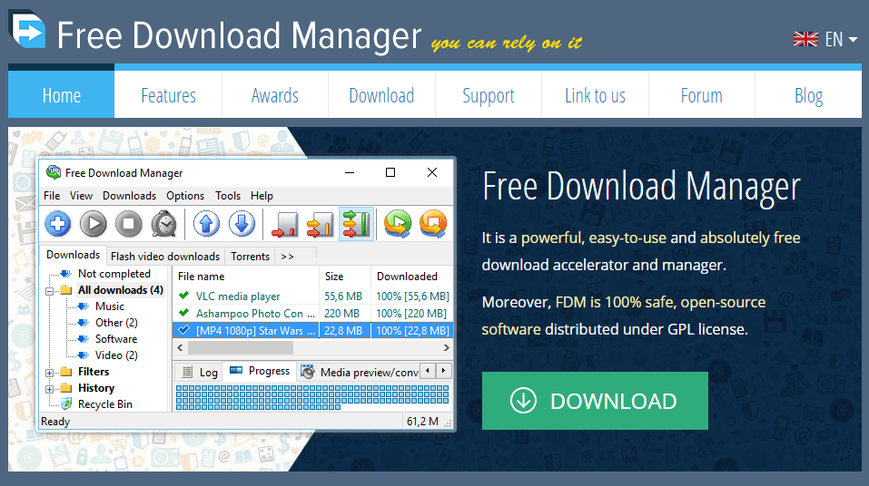 Free Download Manager IDM alternatives
