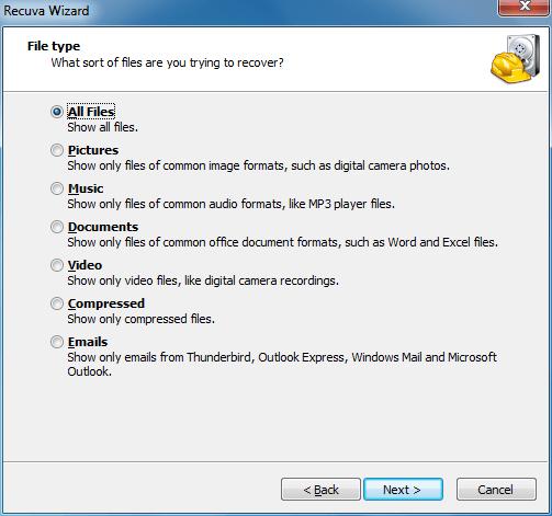 Solve Cyclic Redundancy Check error Recuva