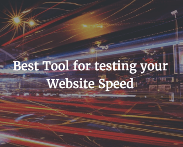 site speed test tools