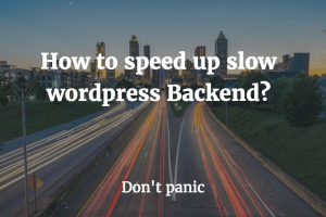 speed up wordpres