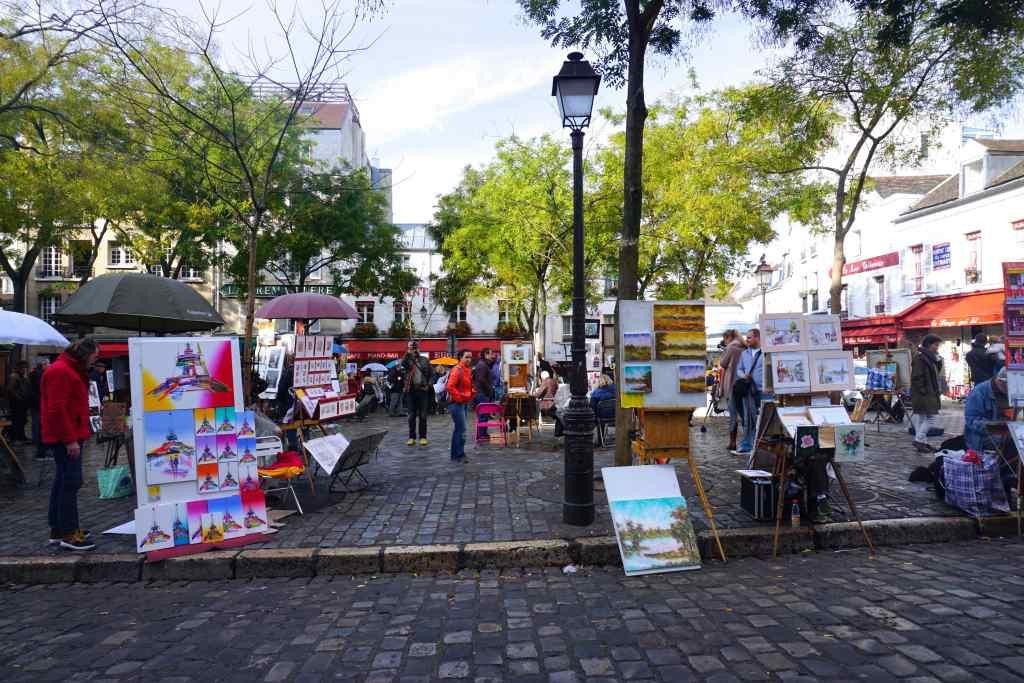 Place du Tertre Montmartre Paris