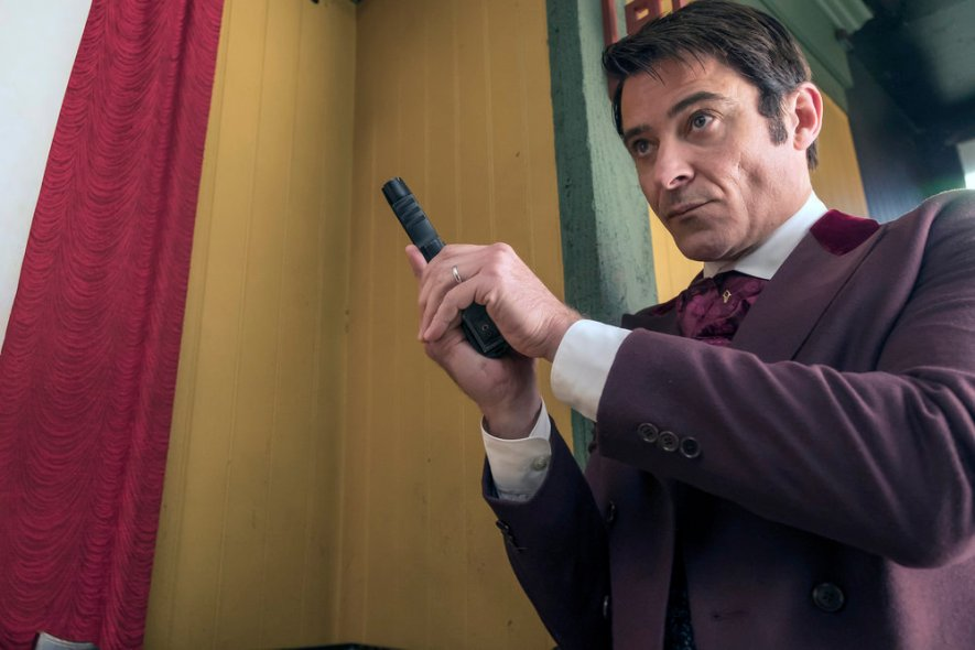 "TIMELESS -- ""A History of San Fran"" Episode 210 -- Pictured: Goran Visnjic as Garcia Flynn -- (Photo by: Ron Batzdorff/NBC)"