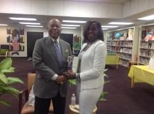 Dr. Sullivan and Thomasville Heights Principal Cynthia Jewell