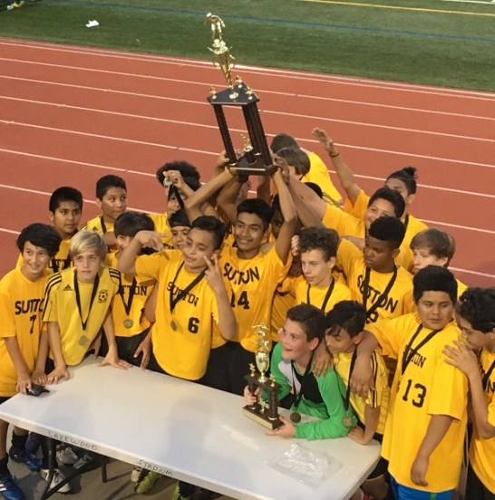 The boys and girls soccer teams at Sutton Middle School won the Atlanta Public Schools Middle School Soccer Championships. The boys defeated Inman Middle School while the girls beat Atlanta Neighborhood Charter School.