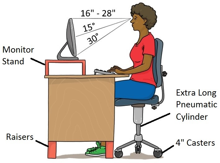 office chair riser ergonomic drafting chairs tall for people life
