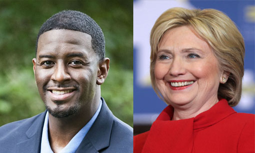 Mayor Andrew Gillum Says Hillary Clinton's E-mail Scandal was Fake…..Like His