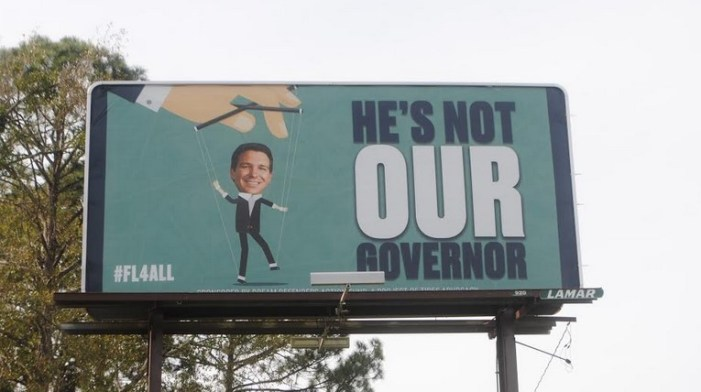 """""""Not Our Governor"""" Billboards in Tallahassee Financed by Anti-Police Group"""