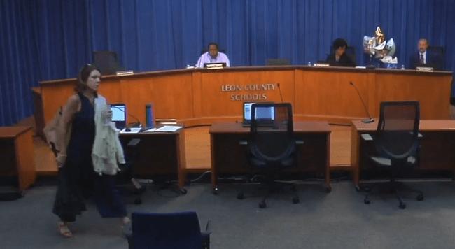 Striplin Walks Out of School Board Meeting
