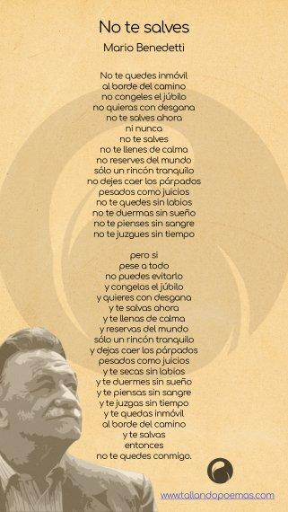 Imagen No te Salves poema Mario Benedetti