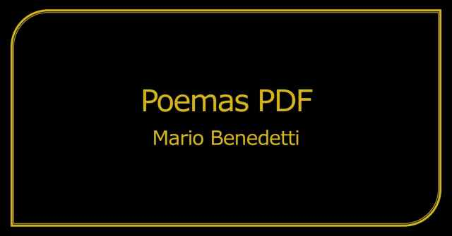 Poemas PDF Mario Benedetti