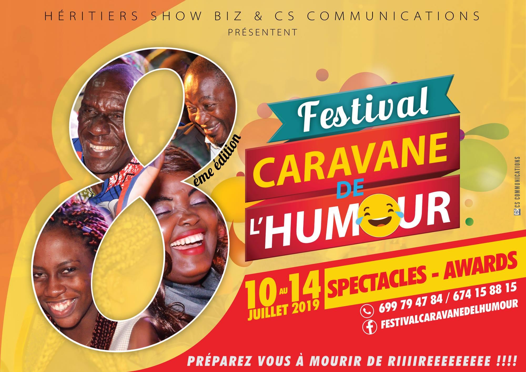 Les 7 noms de la victoire au Festival Caravane de l'Humour : Ulrich Takam, Hector Flandrin, Jean Bigmop Djansan, Mamiton, Comédie presse, One 2 One et Fingon Tralala