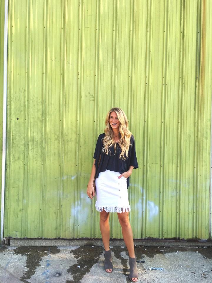 Flowy Top & Fringe Skirt