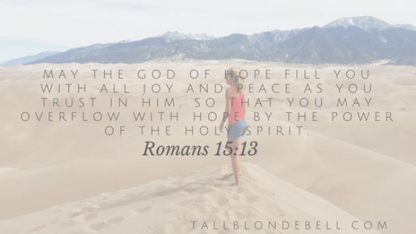 romans15:13 joy