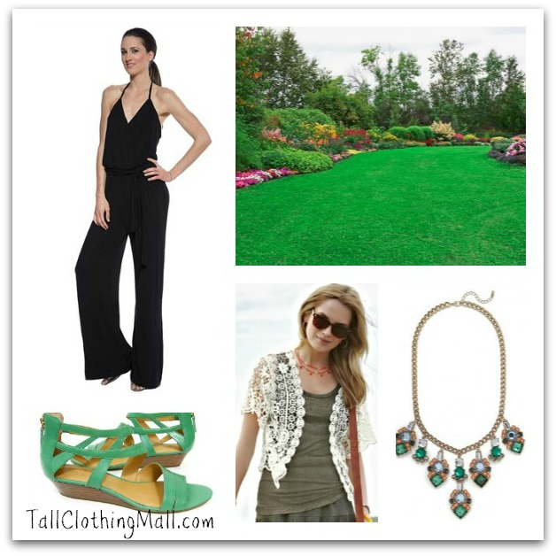 garden party tall jumpsuit daytime