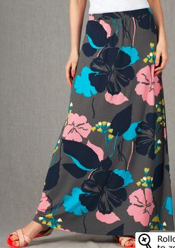 tropical maxi skirt for tall women
