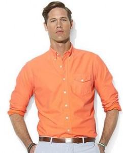 ralph lauren big and tall sport shirt orange