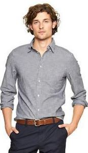 clean big and tall chambray shirt