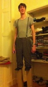 normal guy on stilts costume