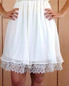 white skirt extender