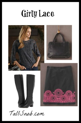 girly lace tall clothing
