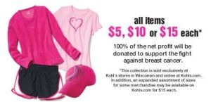 kohls cares breast cancer awareness products