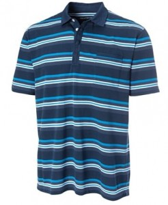 striped tall polo shirt