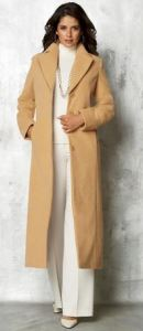 long tall wool coat