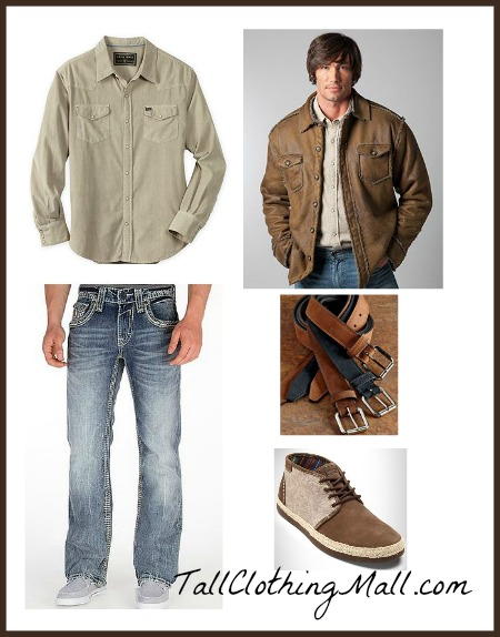 big and tall outfit rugged cool