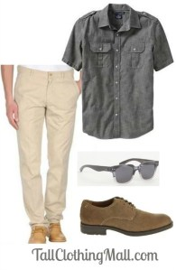 mens tall casual outfit