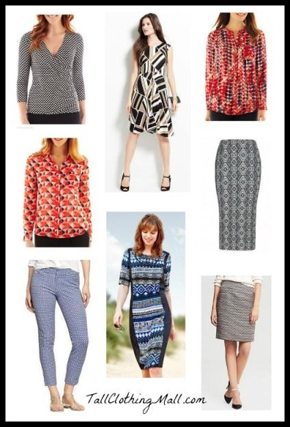 womens tall geometric prints