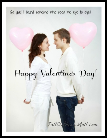 tall people valentine's day card