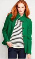 tall boiled wool jacket