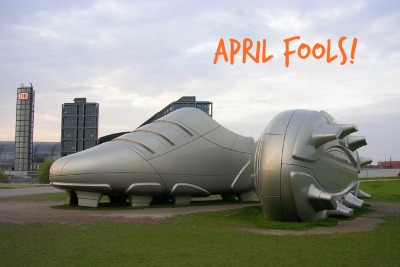 big shoes april fools