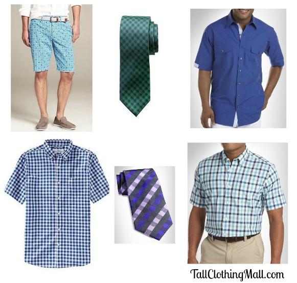 men's tall gingham clothing