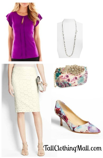 women's tall outfit with skirt