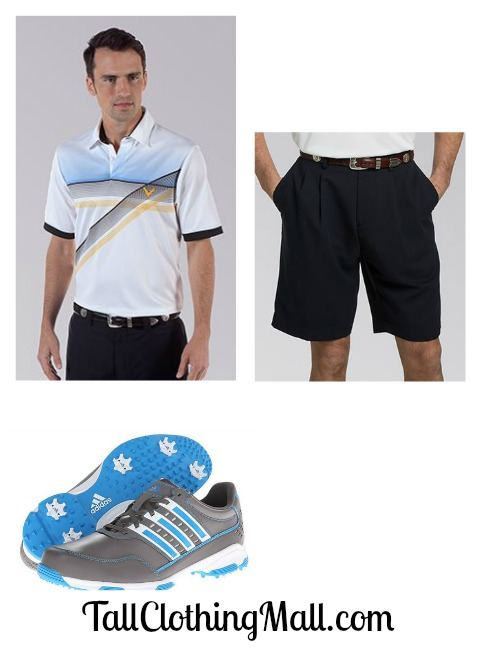 men's tall golf outfit
