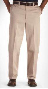"""men's 40"""" inseam pants wrinkle-resistant"""