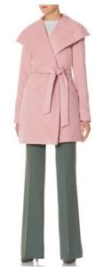 pink tall trench coat